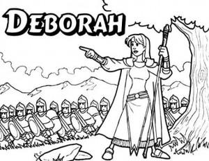 bible coloring pages about deborah - photo#26